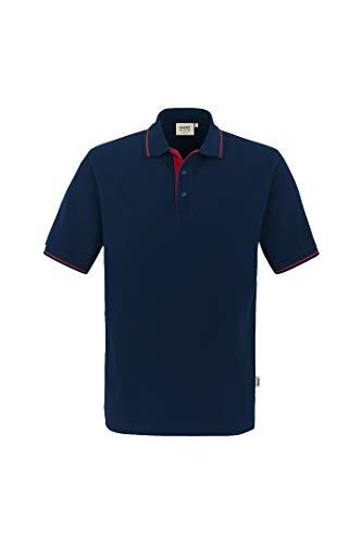 HAKRO Polo-Shirt Casual - 3-Loch Knopfleiste - 803 - tinte/rot - Größe: 3XL