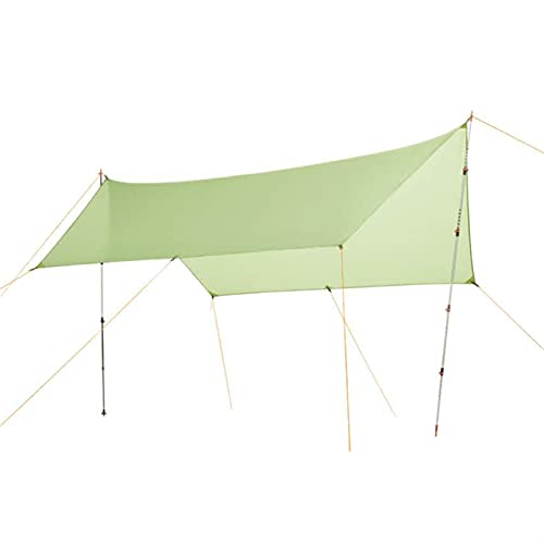 YYDMBH Tiendas domo solo 450 g 20D silicona nylon lluvia mosca tienda lona refugio camping refugio sol refugio y sombrilla para playa picnic (color gris claro)