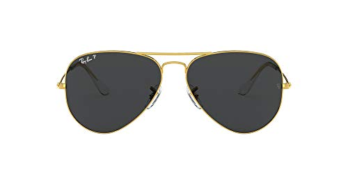 Ray-Ban unisex adult Rb3025 Classic Polarized Sunglasses, Legend Gold/Black Polarized, 58 mm US