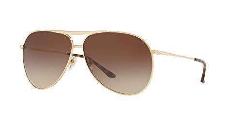 Sunglass Hut Collection Unisex Sunglasses, Gold Lenses Metal Frame, 64mm