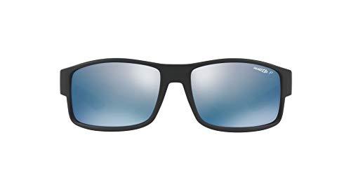 Arnette Herren 0AN4224 01/22 59 Sonnenbrille, Schwarz (Matte Black/Polardarkgreymirrorwater)