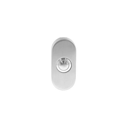 Intersteel Deurbel Ovaal Verdekt 65 X 30 X 10mm, Roestvast Staal, RVS Geborsteld
