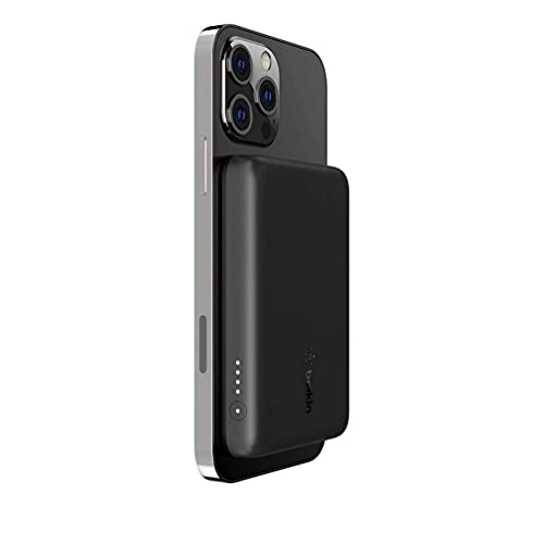 Belkin BOOST↑CHARGE™ MagSafe対応 磁気ワイヤレスモバイルバッテリー 2500mAh iPhone12シリーズ対応 ブラック BPD002btBK-A