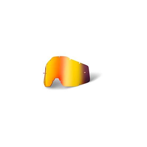 100% Accuri/Strata Jugend- Ersatzlinse W/Posts -Spiegel / Smoke Anti-Nebel, Rot, One Size