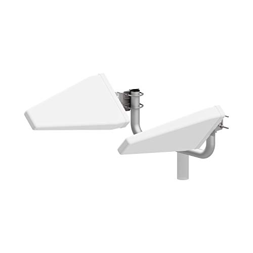 Router Antenne Set LTE Log MIMO 4G | 800/900 1800/2100/2600Mhz | Leistungssteigerung bis zu 20dB | inkl.8 Adapter BNC/TS-9/FME/SMA | OUTDOOR YAGI passend für Huawei,FritzBox,A1,.[20m TWIN+ 8x Adapter]
