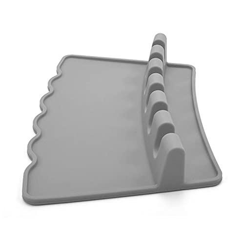 IRYNA Cuchara de silicona para utensilios de cocina, soporte para cuchara de cocina, soporte para estufa superior de silicona resistente al calor, soporte de cuchara de silicona para estufa superior