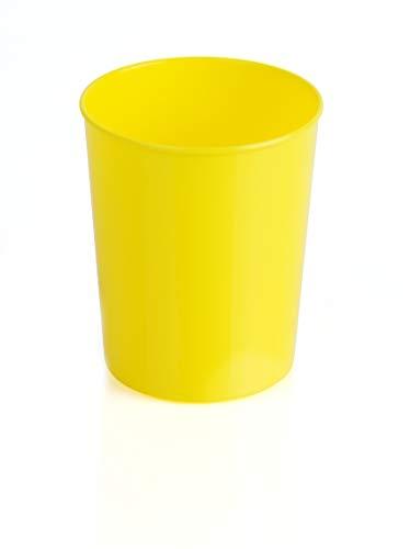 Kimmel 12-000-1202 Tasse Trinkbecher Becher bruchsicher stapelbar Mehrweg 180 ml, Kunststoff, Gelb