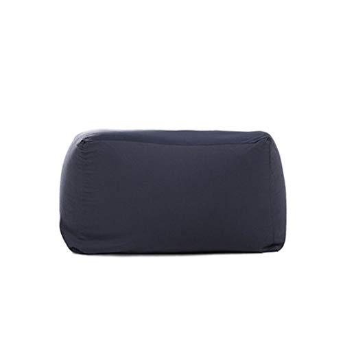 QWERTY Funda De Bolsa De Frijoles/Puff Funda De Bean Bag/For Exteriores E Interiores For Videojuegos For - Asiento De Silla Puf (Color : Navy, Size : 43x65x65cm)