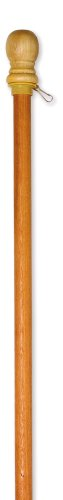 """Evergreen Flag Wooden House and Estate Flag Pole with Ring - 56"""" L x 1.7""""W x 1.7""""H"""
