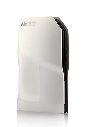 Mercku M6 WiFi 6 Mesh WLAN System Dual Band, hasta 280 m², 2 puertos Gigabit Ethernet, tecnología 802.11ax para Gigabit velocidad 4X mayor eficiencia de red, color blanco