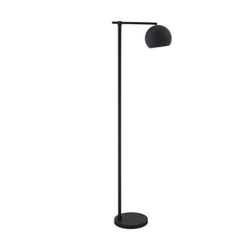 Lezen staande lamp American Style Creativity Moderne vloerlamp in designerstijl met gebogen steel en gepolijst metalen scherm in koperlook staande lampen