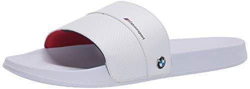 PUMA - Sandalias de Mujer para BMW MMS Leadcat Slide (8 M, EE.UU.), Color Blanco
