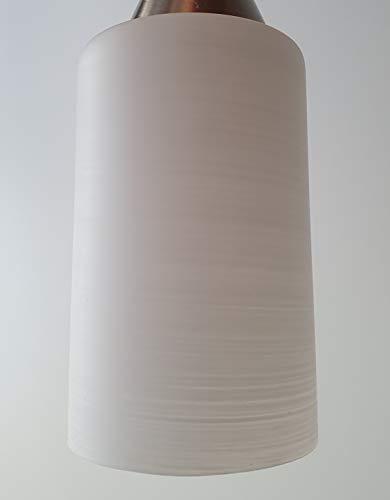 Lampenschirm G0762 gestreift Weiß Glas, E27 Ersatzglas, Schirm, Ersatzschirm, Lampenglas für Pendellampe, Tischlampe, Fluter, Leuchte (gestreift)