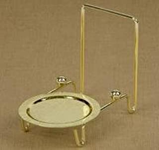 Etched Base Brass Finish Cup and Saucer Stand, Kitchen Accessory