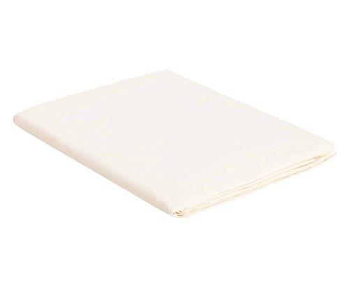Italian Bed Linen Max Color Telo Copritutto in Tinta Unita, 100% Cotone, Panna, Matrimoniale, 270 x 300 cm