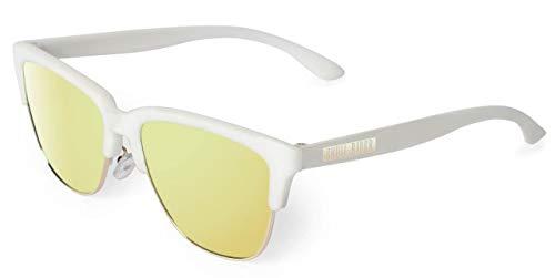 Skull Rider Golden White Gafas, Blanco, Talla única Unisex Adulto