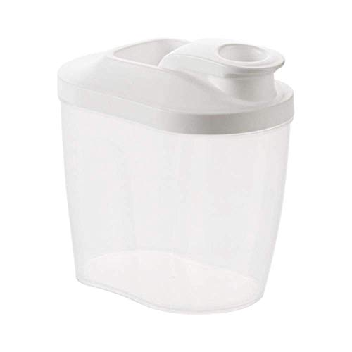 Pkfinrd Clear sealed blikken keukenkorrels opslagtank plastic Koelkast opbergdoos Badkamer waspoeder opbergfles, S L 2PCS