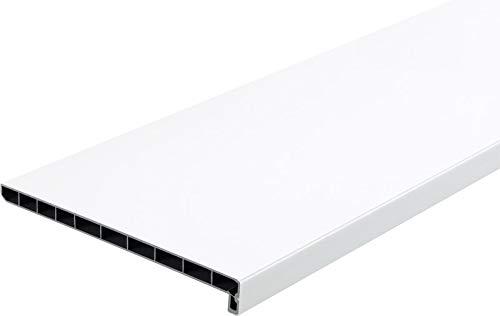 Lignodur Topline LD36 Innenfensterbank weiß 200 mm Ausladung inkl. Seitenabschlüsse Fensterbank (1900mm)