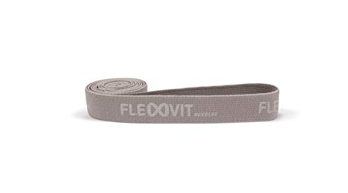 FLEXVIT Premium Fabric Resistance Band, Made in Germany for Superior Comfort & Quality, Used by Pro Athletes and Top Fitness Trainers (Light, Basic (Grey))