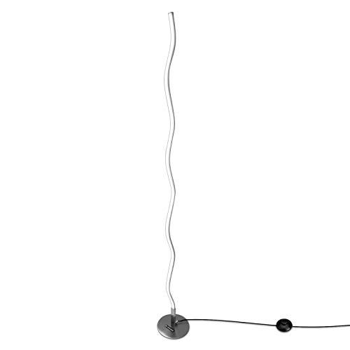 Navaris Lámpara de pie de diseño Moderno - Lámpara LED Ondulada para salón Comedor - Lámpara Moderna de Aluminio de 120CM - en Blanco cálido