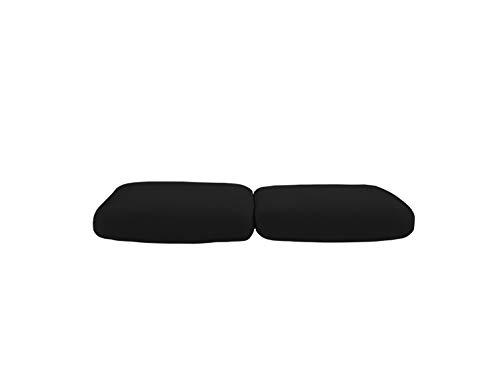 Banzaii Funda Sofa Elastica con Funda Asiento Antimanchas – Cubre Sofa con Cojin – Protector Sofa con Asiento Separado - Poliéster Pareja de Cojines de Asiento 50-75 cm Negro