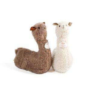 Engelshof knuffel Alpaca Angel en Gracia liggend