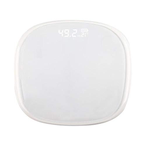 MHBY Báscula de Peso, báscula electrónica de batería Seca para el Cuerpo Humano precisión del hogar niños Adultos Salud pesaje báscula LED Bolsa de Seguridad prevención de vuelcos Laterales