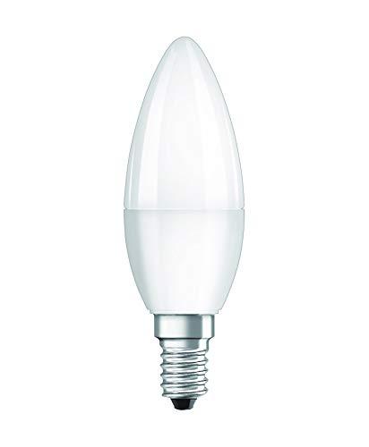 Bellalux Lampadine LED Candela, 5W Equivalenti 40W, Attacco E14, Luce Calda 2700K, Confezione da 2