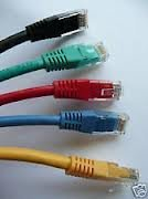 Cables UK 3m cat6cable de red cruzado, plomo, rj45,5colores