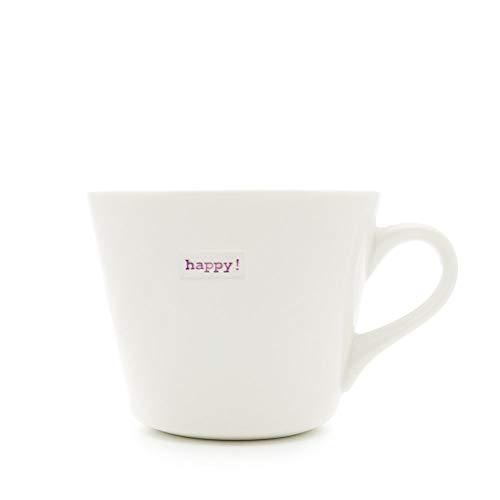 Keith Brymer Jones Word Kaffeebecher, mit Schriftzug Happy!