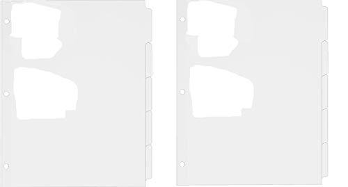 Avery 5-Tab Binder Dividers, Write-On Plain Tabs, 36 Sets (11506), White (Pack of 2)
