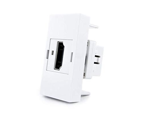 Regleta de 3 enchufes empotrables para mesa o mesa con inserciones Livolo opcionales para colocar uno mismo en escritorio, banco de trabajo u oficina (interior HDMI Box VL-HDMI-11 (1/2))
