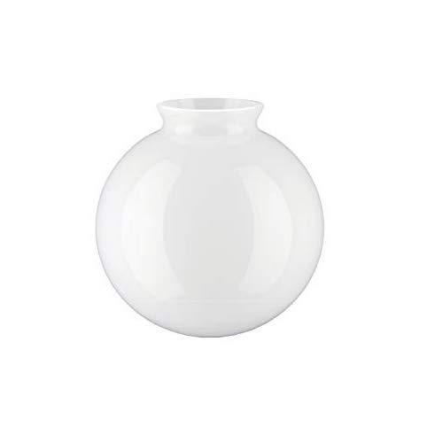 "Splayed nek glazen bol vervangende lampenkap voor plafond / wand / vloerlampen taffellampen 12.5cm Diameter (5""), Wit"