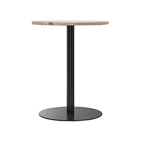 Mesa de Centro de Piedra Redonda,mesa de Centro Multifuncional,mesa de Centro para el Hogar,estable y Fácil de Montar,acabado Terrazo,estilo Moderno Minimalista, Apta para Salón/comedor/oficina.