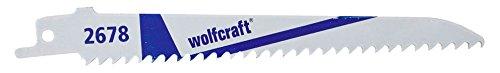 Wolfcraft 2678000 - 2 hojas de sierra de sable