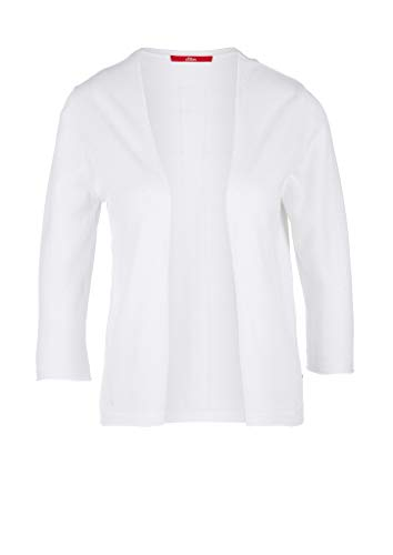 s.Oliver Damen Open Front-Cardigan aus Viskosemix White 44