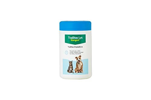 Stangest Toallitas Higiénicas LYS para Perros y Gatos | Limpieza Ojos, Oídos y Piel | Toallitas Limpiadoras con Aloe Vera y Agua Hamamelis | 120 Unidades