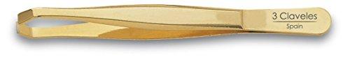 3 Claveles 12246 - Pinza depilar cangrejo 9 cm oro