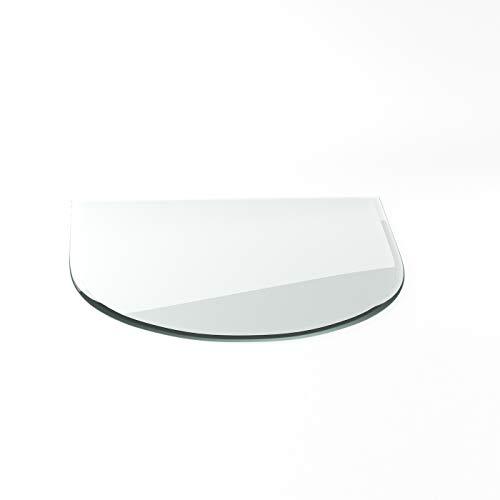 Vonkenbeschermingsplaat G1 tong ESG 6mm x 1200mmx1000mm met 18mm facetgeslepen glasplaat bodemplaat schoorsteenplaat vonkenbescherming ovenplaat open haard glas