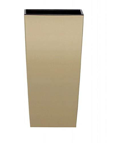 Prosperplast Macetero Urbi Square Mocca 22 x 22 x 42 cm (largo x ancho x alto)