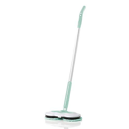 CLEANmaxx Spray-Mopp inkl. Akku | 40 min Akkulaufzeit, 2 rotierende Reinigungs-Pads | 150ml Wassertank { Hochwertig verarbeitet, türkis]