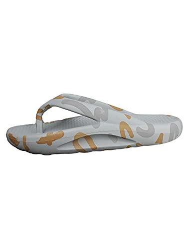 Pantuflas para mujer, sandalias de senderismo, unisex, a la moda, zapatos descalzos, chanclas para la playa, sandalias..., color Gris, talla 45/46 EU