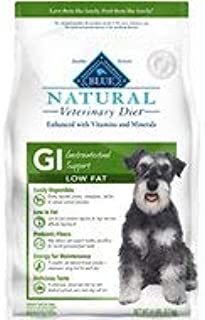 Blue Natural Veterinary Diet GI Gastrointestinal Support Low Fat Dry Dog Food 6 lb