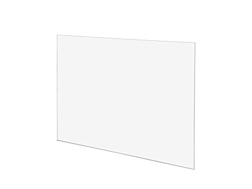 Clear Cast Acrylic Sheet 1/8 Thick 5x7 Inch, Pack of 10 Pcs, 3mm Transparent Acrylic Plexiglass Board Table Number Signs Photo Size Sheet Picture Frame Replacement Glass Card Writing Panel