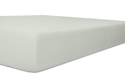 Kneer Exclusive-Stretch Q93 hoeslaken 40cm extra hoog, kleur: 09 - platina; Grootte: 120x200-130x220 cm