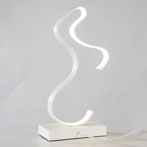 CHENXTT Lámpara de mesa moderna sencilla y especial con forma romántica y creativa, con protección ocular y concha blanca, 16,1 x 9,8 pulgadas
