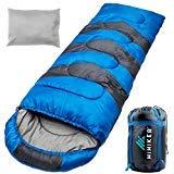 HiHiker Camping Sleeping Bag + Travel Pillow w/Compact Compression Sack – 4 Season Sleeping Bag...