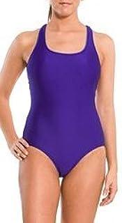 Speedo Women's Lycra Modern Classic Fit Shelf Bra Ultraback Swimsuit