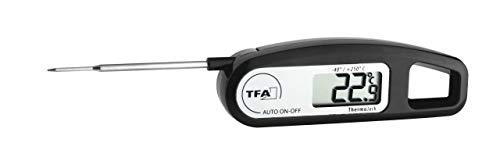 TFA Dostmann Thermo Jack digitales Einstichthermometer, ideal zur Temperaturkontrolle (Fleisch, Braten, Babynahrung), vielseitig nutzbar, abwaschbar