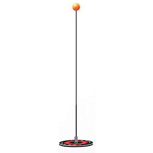 Demarkt Juego de entrenamiento de ping pong de mesa con caña elástica y raqueta de ping pong – con 2 raquetas y 3 pelotas de ejercicio – para descompresión y para interiores o exteriores